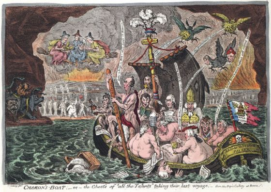 Gillray, James: Charon's Boat. Fine Art Print/Poster (4922)